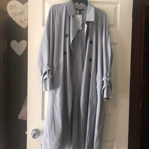 NWT ZARA TRENCH COAT SKY BLUE